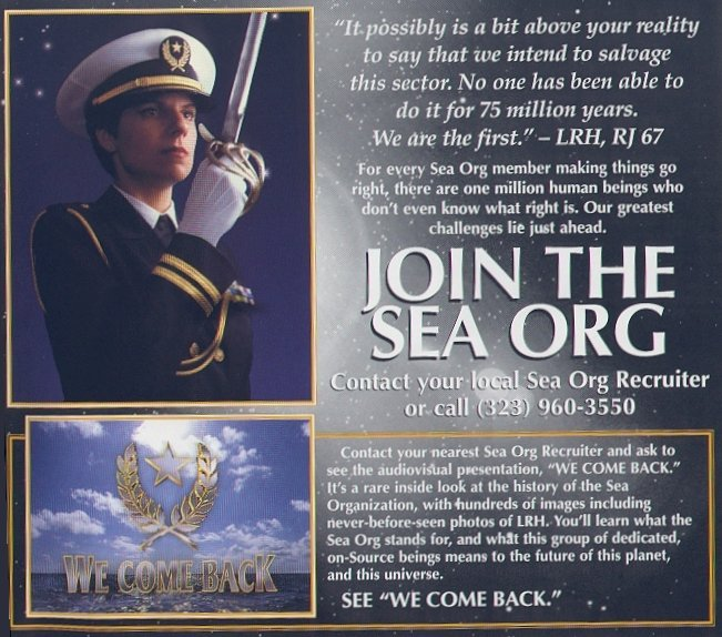 Sea Org Recruitment Ad